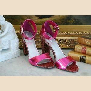 Tildon Pink Heels Sandals Ankle Strap 5
