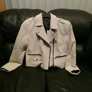 Metaphor Jackets & Blazers - NWT Metaphor Ivory/Black Moto Jacket sizes 6 or 10