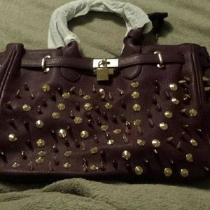 NWT Pink Cosmo Violet Spiked Satchel