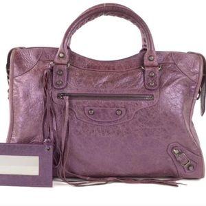 Balenciaga Classic City Bag - Purple