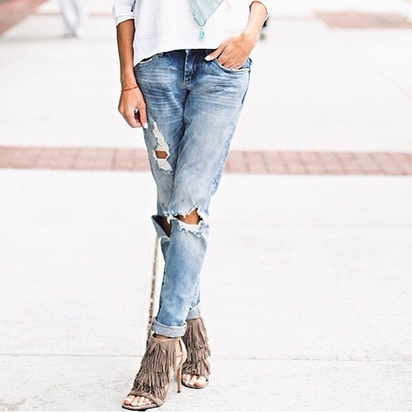 Good vibes distressed skinny jeans