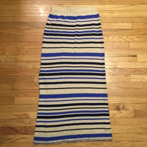 Anthropologie Sparrow striped long skirt - Medium