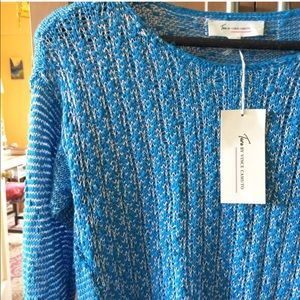 Two by Vince Camuto Sweaters - Vince Camuto ocean blue low sweater