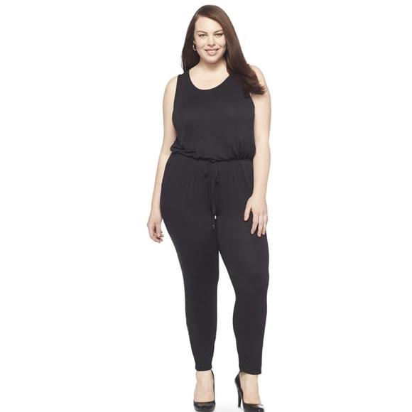 a64c7ca62c1 Ava   Viv Black Plus Size 2x 20W 22W Jumpsuit