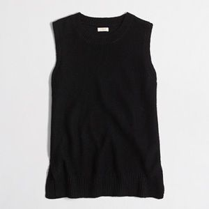 KEEPING - J Crew Factory Black Linen Sweater Tank