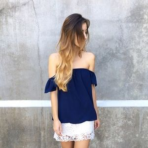LAST ITEM off the shoulder blouse