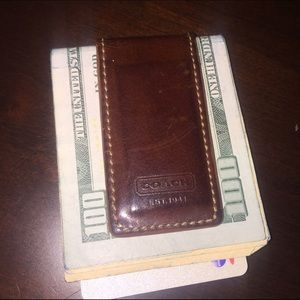 Coach Other - Coach Bleecker Legacy leather money clip
