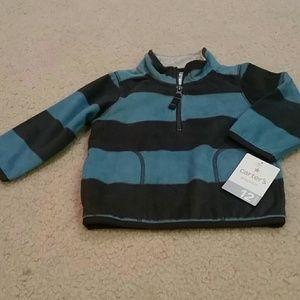 Carter's Other - Carter's blue and grey fleece half zip sweater