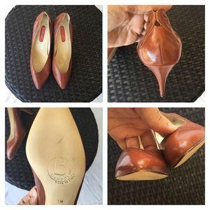 Bandolino brown leather pumps size 7