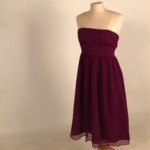 Jcrew maroon strapless dress