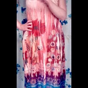 Lapis Dresses & Skirts - Lapis Tube Dress One Size Floral Anthropologie