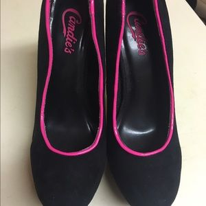 Candie's Shoes - Black platform high heels