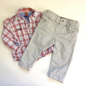Mayoral Other - 9M - checkered Shirt & Pants