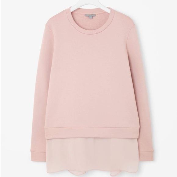 7ac5c3b63209 COS Sweaters   Silk Trim Jumper Blush Pink   Poshmark