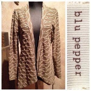 Blu Pepper Sweaters - Lightweight Long Sweater / Cardi