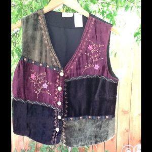 Women's Vintage 90's Grunge Velvet Vest 1990's