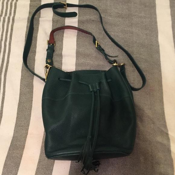 56% off GiGi New York Handbags - Dark Green Gigi Bucket Bag from ...