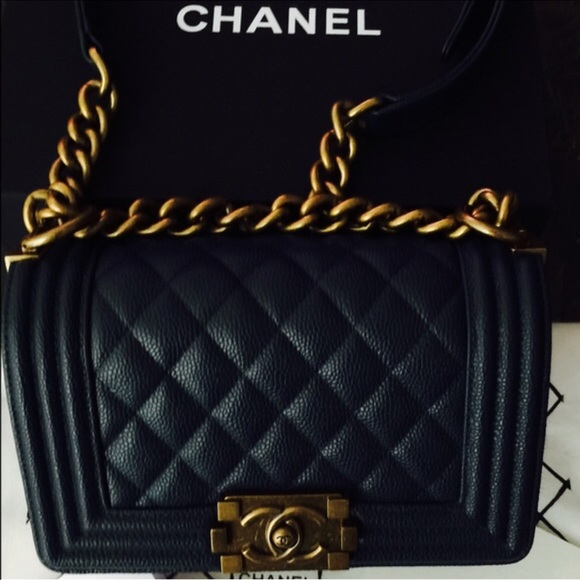 2ca6671858a6f3 CHANEL Bags | Le Boy Authentic Navy With The Receipt | Poshmark
