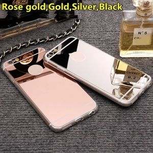 Soft Gallery Accessories - New Fashion Rose gold Luxury Mirror Soft Clear