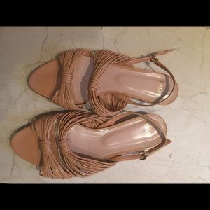 NEW unused Bally strappy patent pink flat sandals