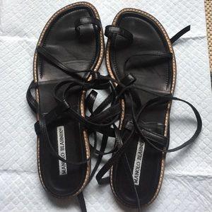 fc8df8a6d3d2 Manolo Blahnik Shoes - Manolo Blahnik Gladiator Sandals