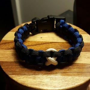 Jewelry - Colon Cancer Paracord Police Bracelet