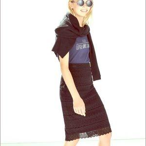 Zara Knit Lace Skirt