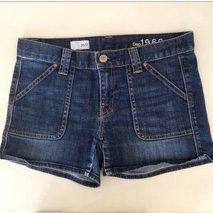 GAP 1969 denim shorts size 26. Like new!