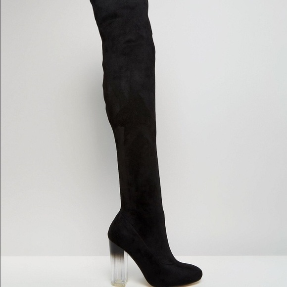 07f49adfb66 Asos Shoes - Truffle Collection Over The Knee Boot Clear Heel