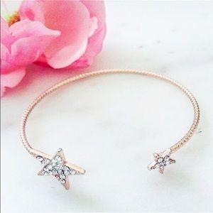 SALE! Czech Crystal Stars 14k Rose Gold Bracelet!✨