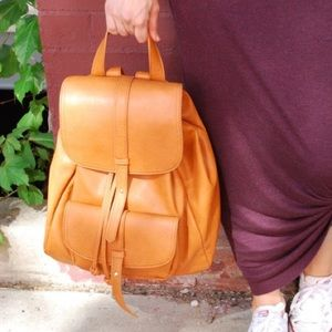 Sole Society Bags - Sole Society double flap faux leather backpack.