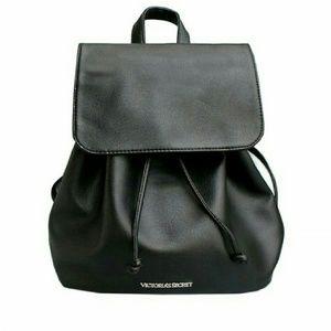 cf5e7b2e5b Victoria s Secret Bags - VICTORIA S SECRET FLAP DRAWSTRING BACKPACK (BLACK)