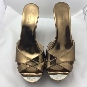 Jimmy Choo Shoes - Jimmy Choo Wedges! Heels are 4 1/2 inches high.