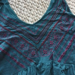 UO embroidered tunic