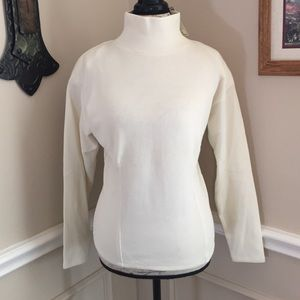 Express Ivory Cowl Neck Top