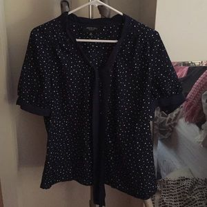 Jason Wu for Target Tops - Jason Wu for Target Blue & White Polka Dot Blouse