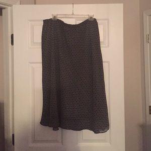 Dresses & Skirts - Lined Black/White Skirt