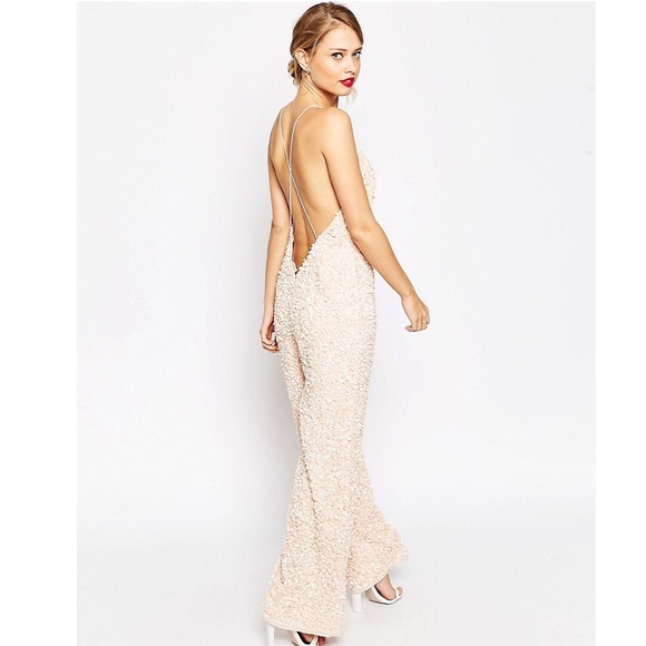 df776dd9895e ASOS JUMPSUIT WITH ALL OVER SEQUIN EMBELLISHMENT