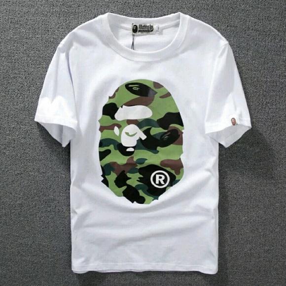 aa7407f7 Bape Shirts | A Bathing Ape Shirt Tee White Camo | Poshmark