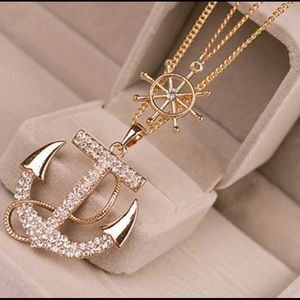 New Hot Fashion Crystal Anchor Pendant
