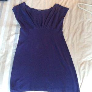 Calvin Tran cobalt blue knit dress