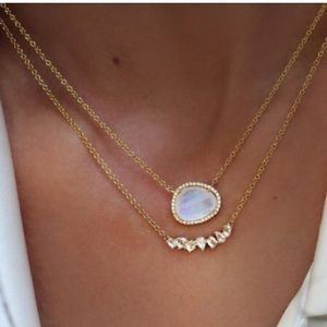 Spell & The Gypsy Collective Jewelry - SALE!! 🌘Moonstone & Diamond Necklace 🌒Luna Skye