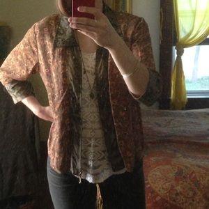 April Cornell Jackets & Blazers - ** moving to U.K. ** Contrast fabric jacket