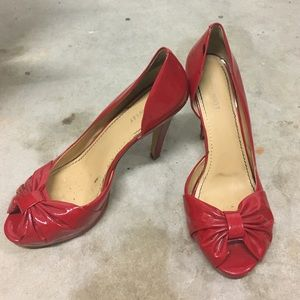 Fire engine red Nine West Pumps