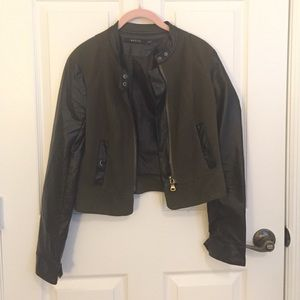 Ark & Co Jackets & Blazers - Faux leather and suede jacket