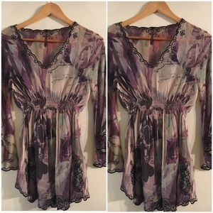 Sienna Rose Sheer Blouse Sz S