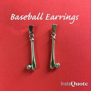 Baseball Earrings Post Dangles