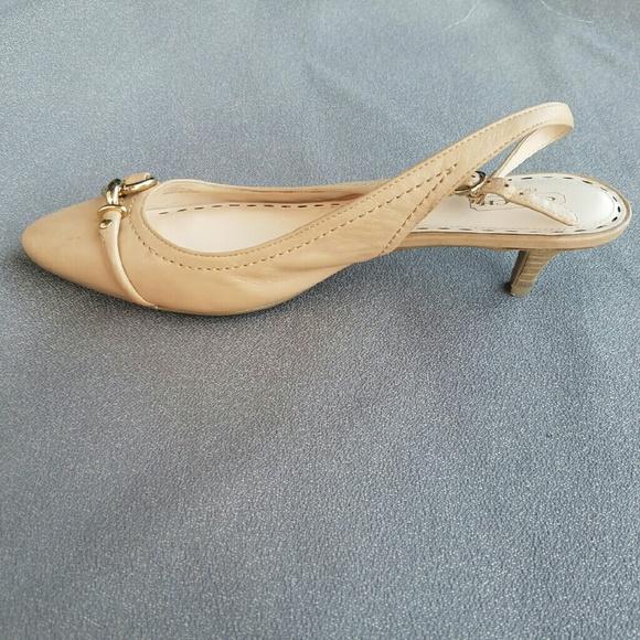 Coach - COACH Cream Kitten Heels from Michelle's closet on Poshmark