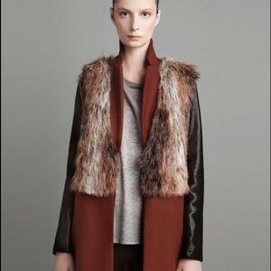 Zara faux fur vest brown size S