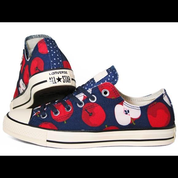 441c75b79c0e Converse Shoes - Converse All Star OX Apple Print US Women s ...